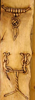 Horn Mountain Living - Mountain Man Carved Door - Detail