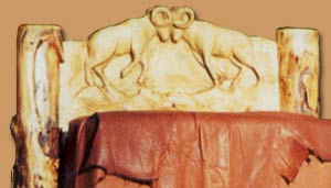 Horn Mountain Living - Rams Chair back Carving