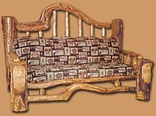 Wood Carved Couch