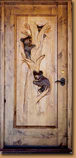 Horn Mountain Living - Bear Cubs Carved Door