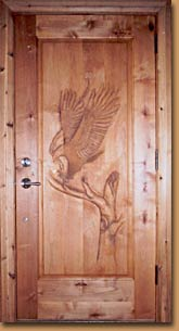 Horn Mountain Living - Eagle Carved Door