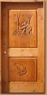 Horn Mountain Living - Fishing Carved Door
