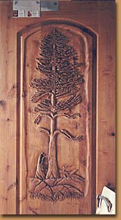 Horn Mountain Living - Tree Carved Door