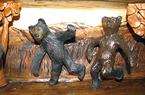 Horn Mountain Living - Dancing Bears Mantel - Detail